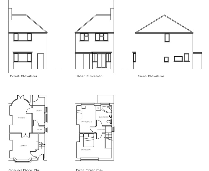 Two Storey Side Extension on a Semi-detached Dwelling, West ...
